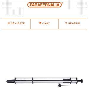 Parafernalia Ballpoint Pen, Silver, Black Ink